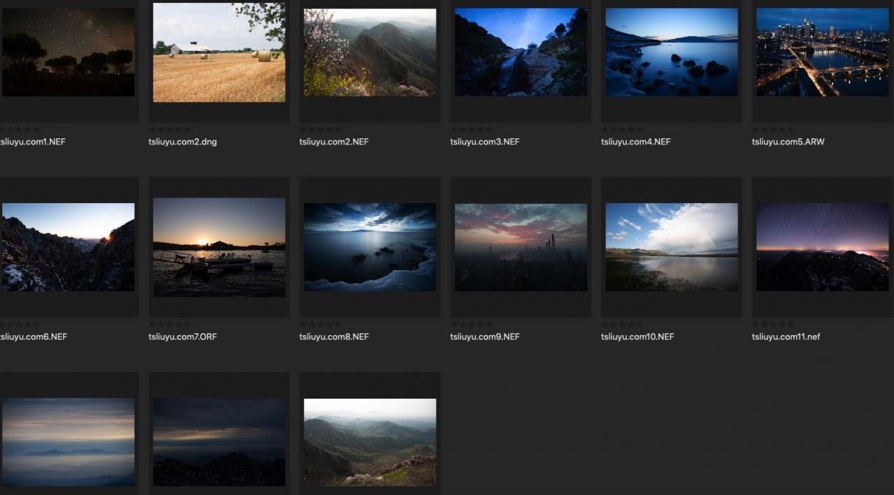 网络搜集整理的一组风光摄影的RAW原图 收集整理 第1张