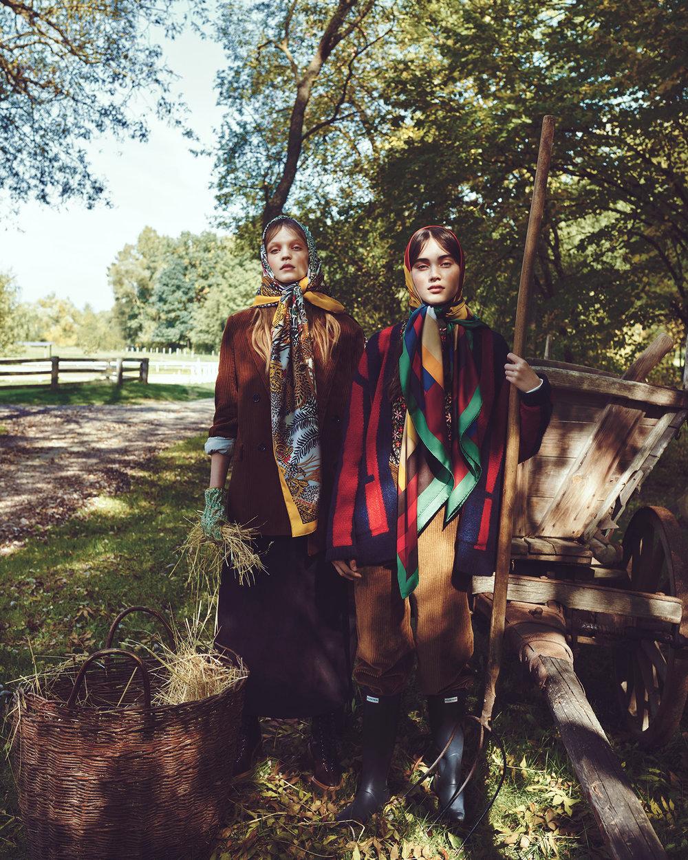 时尚芭莎杂志 外景拍摄时尚人像摄影作品 时尚图库 第2张