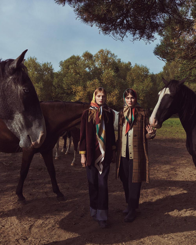 时尚芭莎杂志 外景拍摄时尚人像摄影作品 时尚图库 第12张