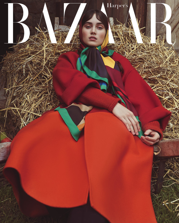 时尚芭莎杂志 外景拍摄时尚人像摄影作品 时尚图库 第1张