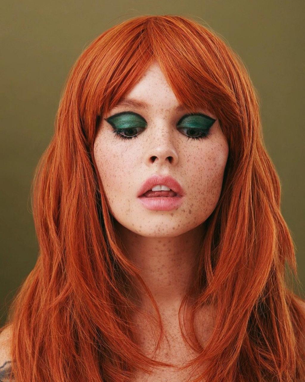 俄罗斯摄影师Kseniya Vetrova人像作品 雀斑女孩特写镜头 时尚图库 第8张