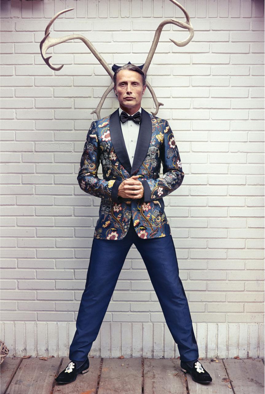 《L'OFFICIEL》杂志刊登了MADS MIKKELSEN的一组时尚片 时尚图库 第4张