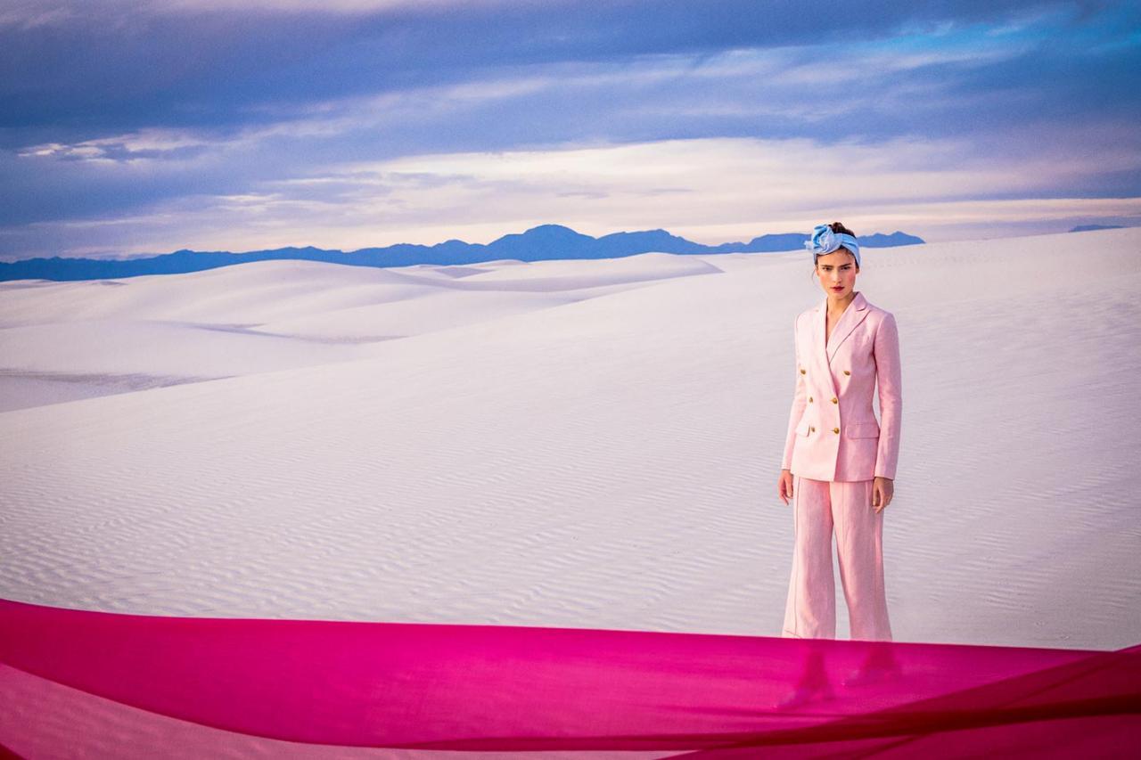 Elizaveta Porodina 摄影作品 The White Sands 服装色彩搭配 时尚图库 第5张
