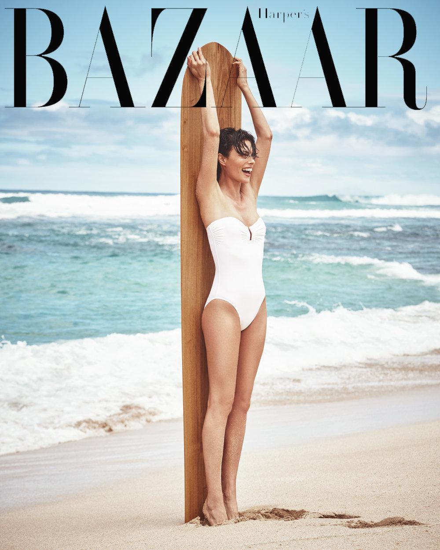 时尚芭莎 海边沙滩时尚大片 干净人像 时尚图库 第1张