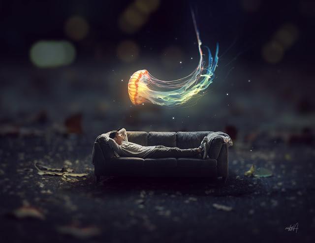 Rafy a 后期合成视频教学 幻想发光水母微型照片效果 收集整理 第1张