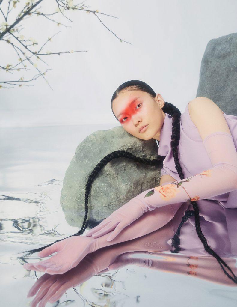 摄影师李若冰一组《时尚芭莎Harper′s Bazaar》妆容大片 时尚图库 第3张