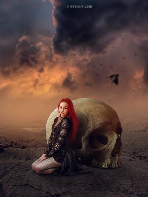 rafya photoshop后期合成视频 骷髅女孩 收集整理 第1张