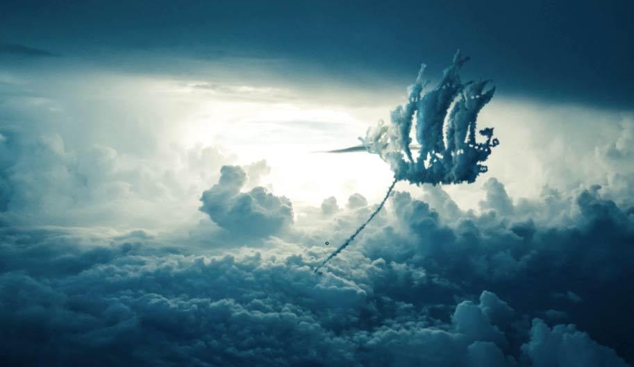 nemanja sekulic图片后期合成视频 云朵效果的飞船 收集整理 第1张