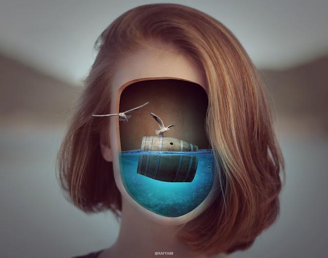Rafy a 幻想合成视频教学 超现实的面部水下照片(视频&素材) 收集整理 第1张