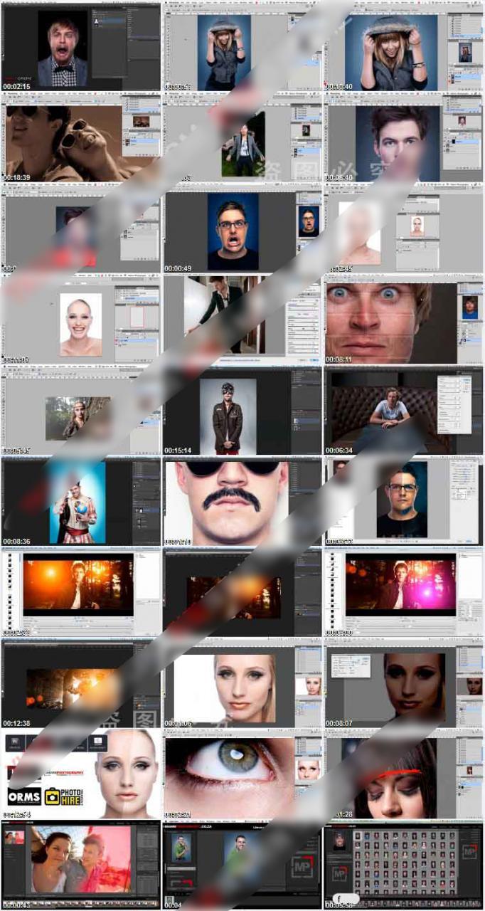 photoshop摄影后期综合人像修图调色教程 收集整理 第1张
