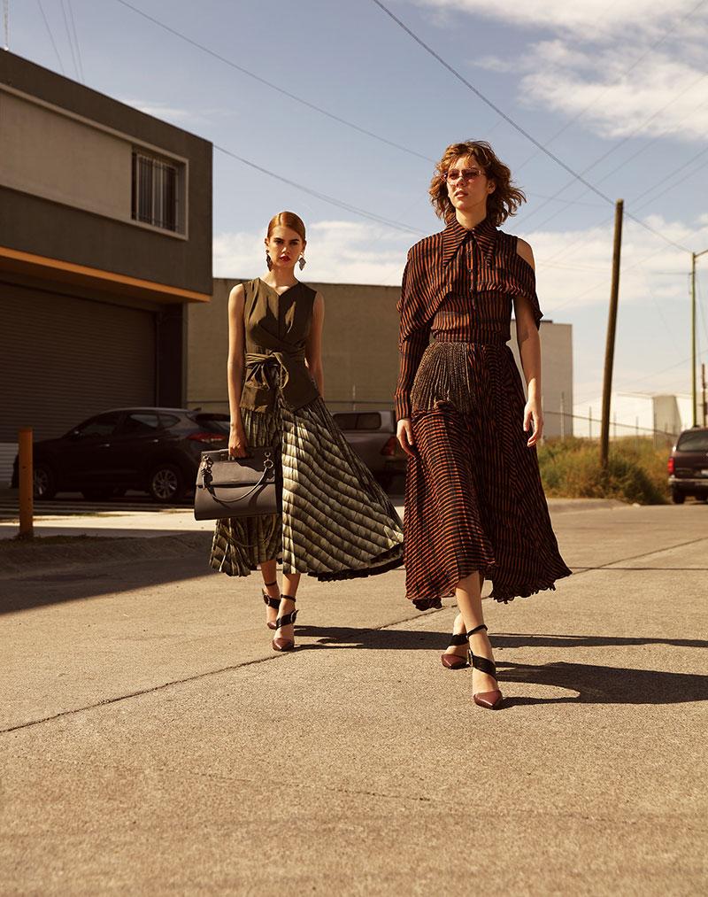 奢侈品旅行杂志摄影作品 外景时尚人像 时尚图库 第3张