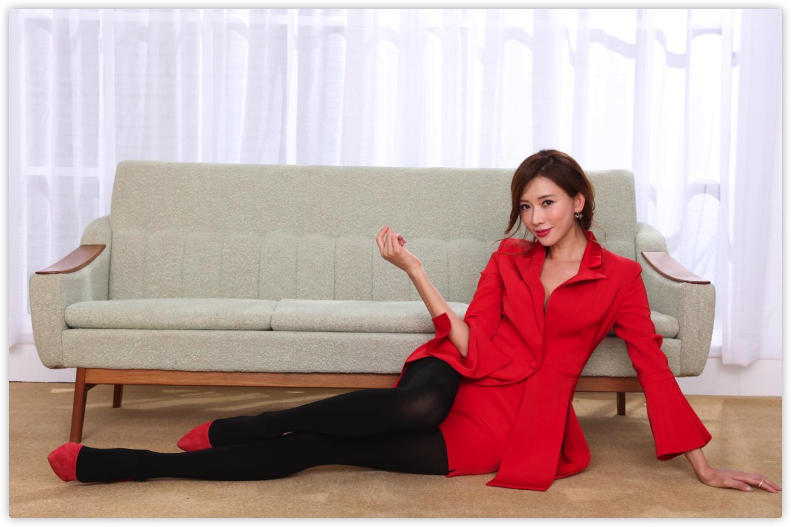 林志玲棚拍原生RAW无损生图 CR2格式高清修图练习素材 红色西装系列 收集整理 第2张