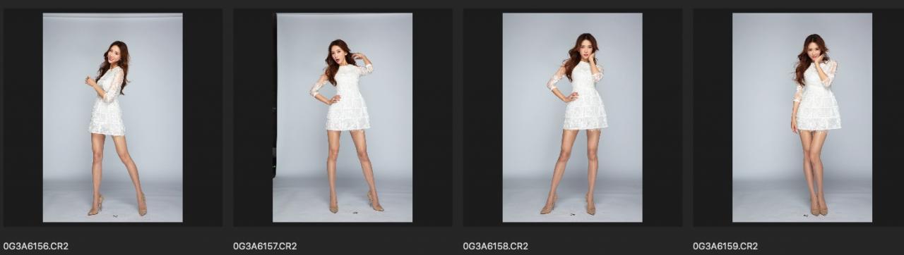林志玲棚拍RAW原图 高清CR2修图练习素材 单色背景镂空白色小礼服 收集整理 第5张