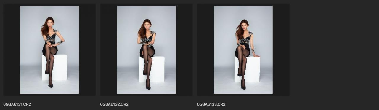 棚拍RAW原图 高清CR2修图练习素材 林志玲生图单色背景黑花小礼服 收集整理 第9张