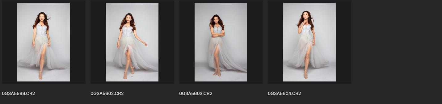 RAW原图 cr2格式修图练习素材 林志玲灰色背景青灰纱裙生图 收集整理 第6张