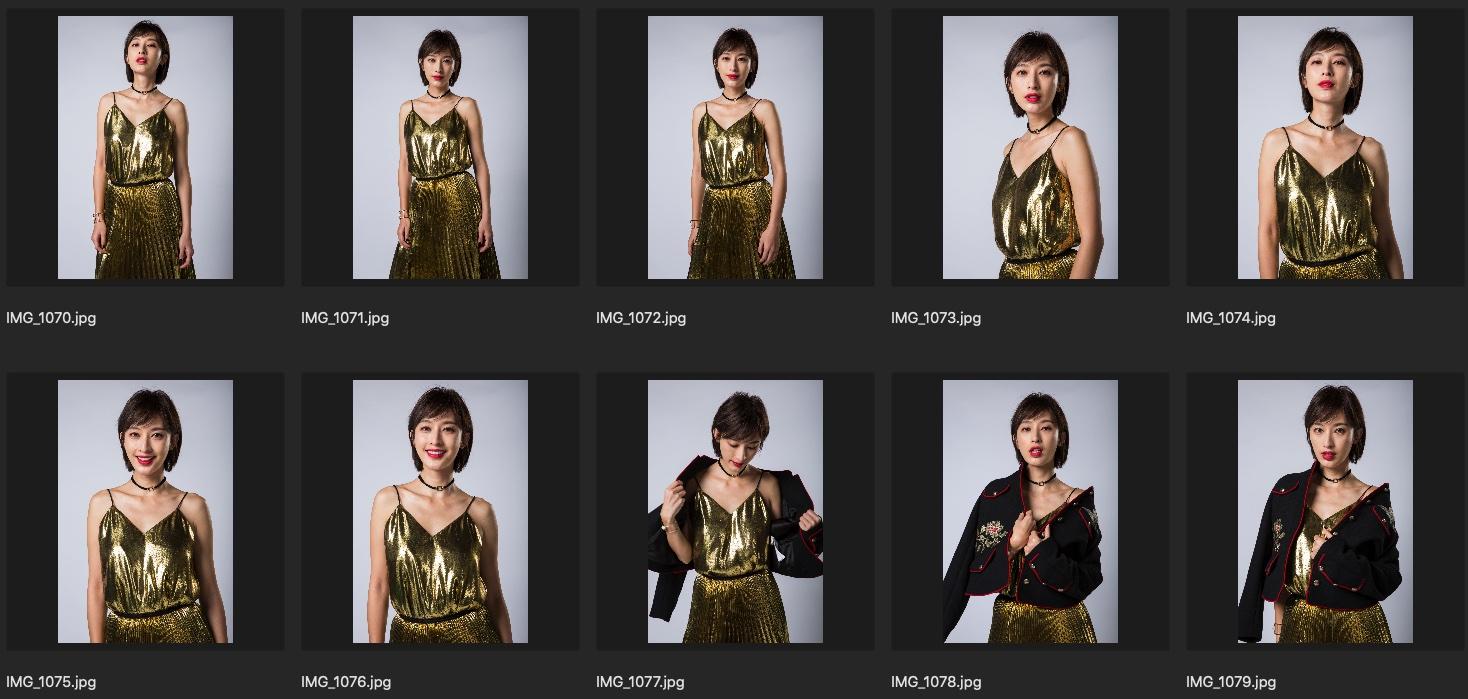 人像修图素材 歌手张俪单色背景JPG格式 金色礼服裙生图下载 收集整理 第3张