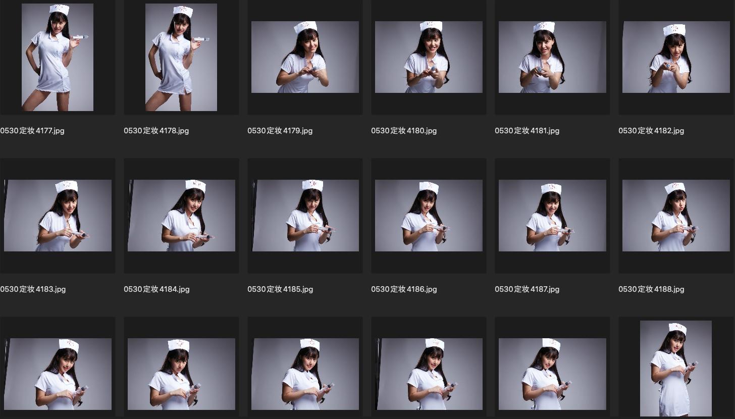 人像修图JPG格式素材 演员朱可儿护士装生图第五组 收集整理 第3张