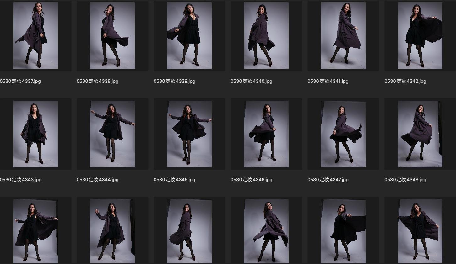 人像修图JPG图片素材 某模特定妆照生图第2组 收集整理 第3张
