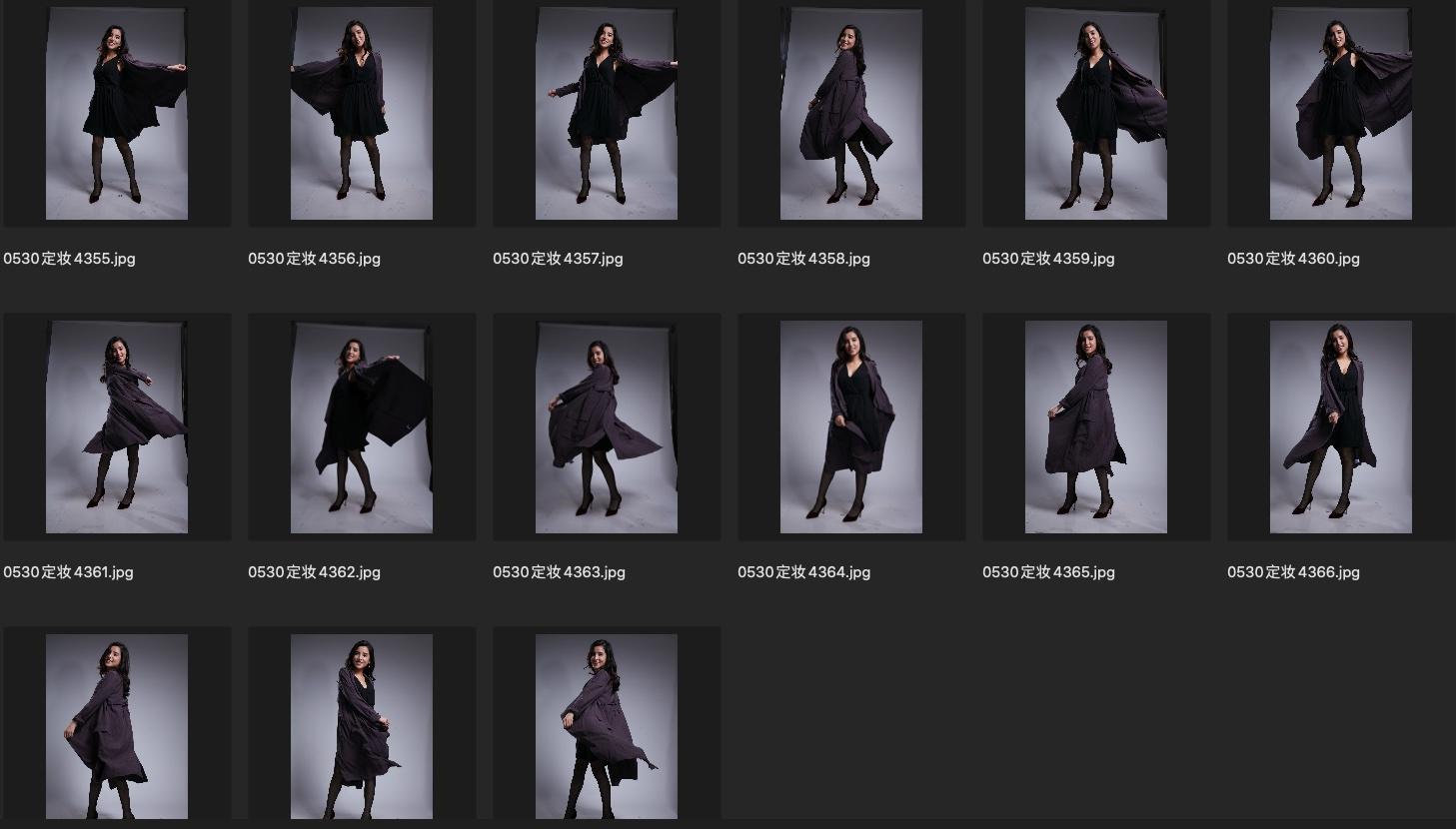 人像修图JPG图片素材 某模特定妆照生图第2组 收集整理 第4张