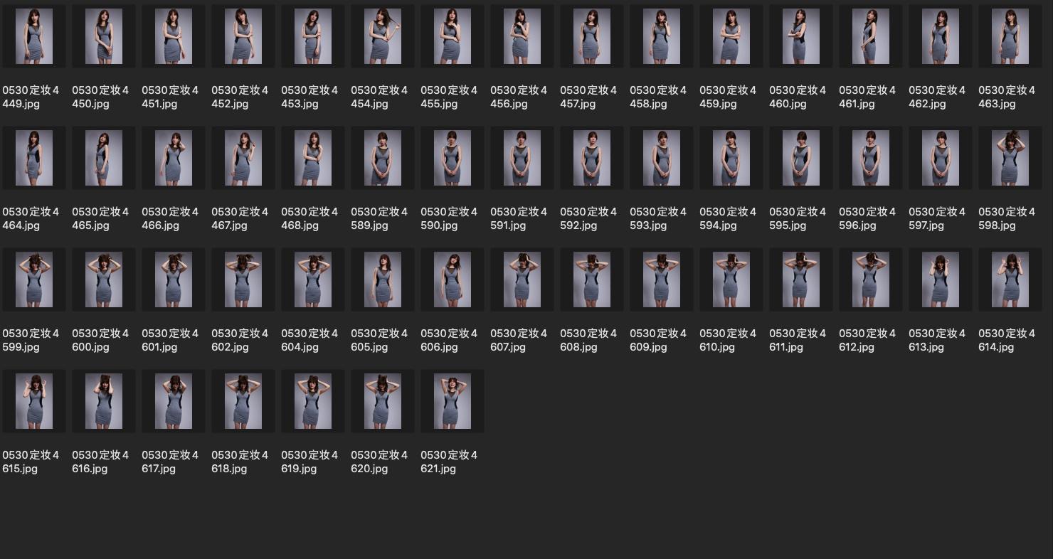 人像修图JPG素材 演员黄思思某电影定妆照生图第2组 收集整理 第3张