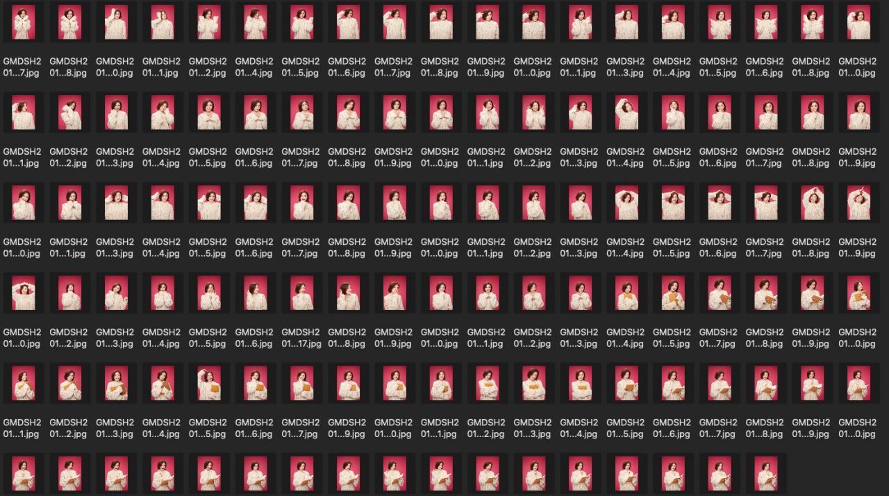 人像修图练习素材 演员袁姗姗JPG格式生图 红色背景米黄色毛衣 收集整理 第3张