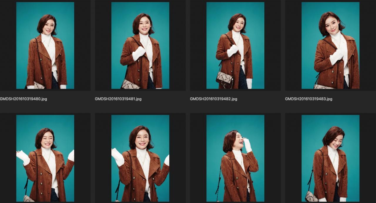 人像修图练习素材 演员袁姗姗JPG格式生图 青绿背景大半身特写 收集整理 第2张
