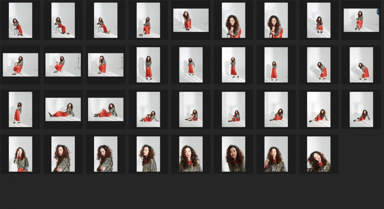 人像修图练习素材 张小斐JPG格式生图 暗金上衣红色斑点裙 收集整理 第2张