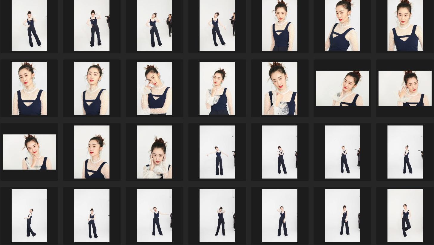人像修图练习素材 张小斐JPG格式生图 蓝色小套装拍摄 收集整理 第2张