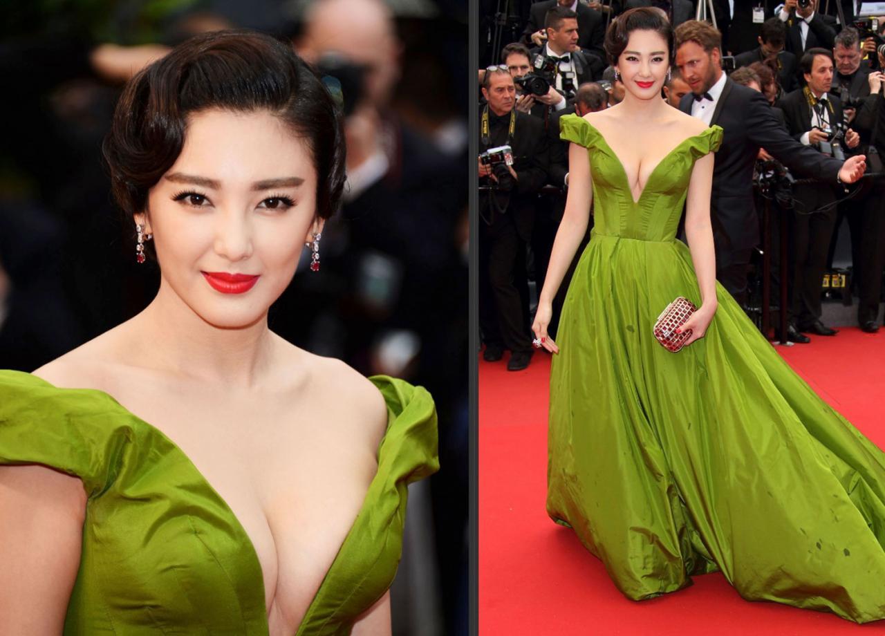 人像修图素材 明星生图 演员张雨绮真空性感绿裙JPG现场生图素材 收集整理 第1张